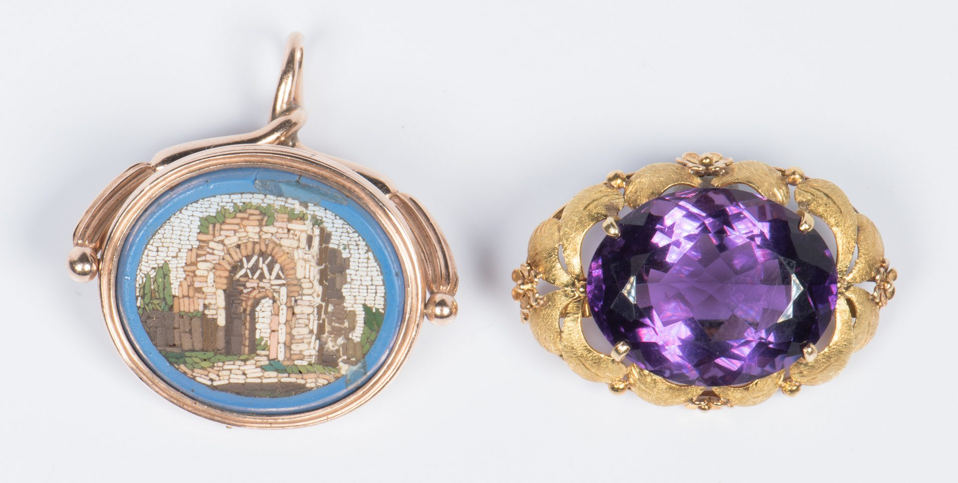 Lot 704: 14K, 10K Vintage style Jewelry