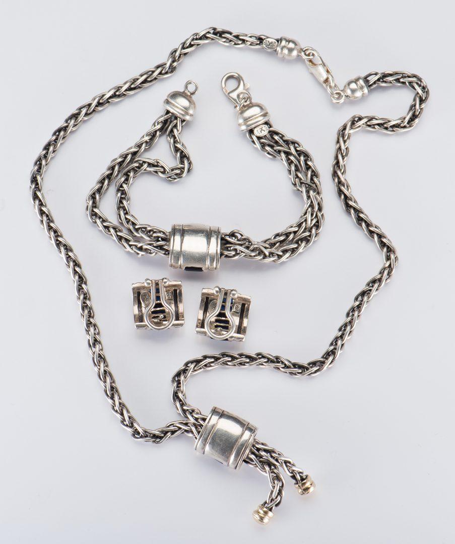 Lot 709: 3 Pc Ladies John Hardy Sterling 18K Jewelry