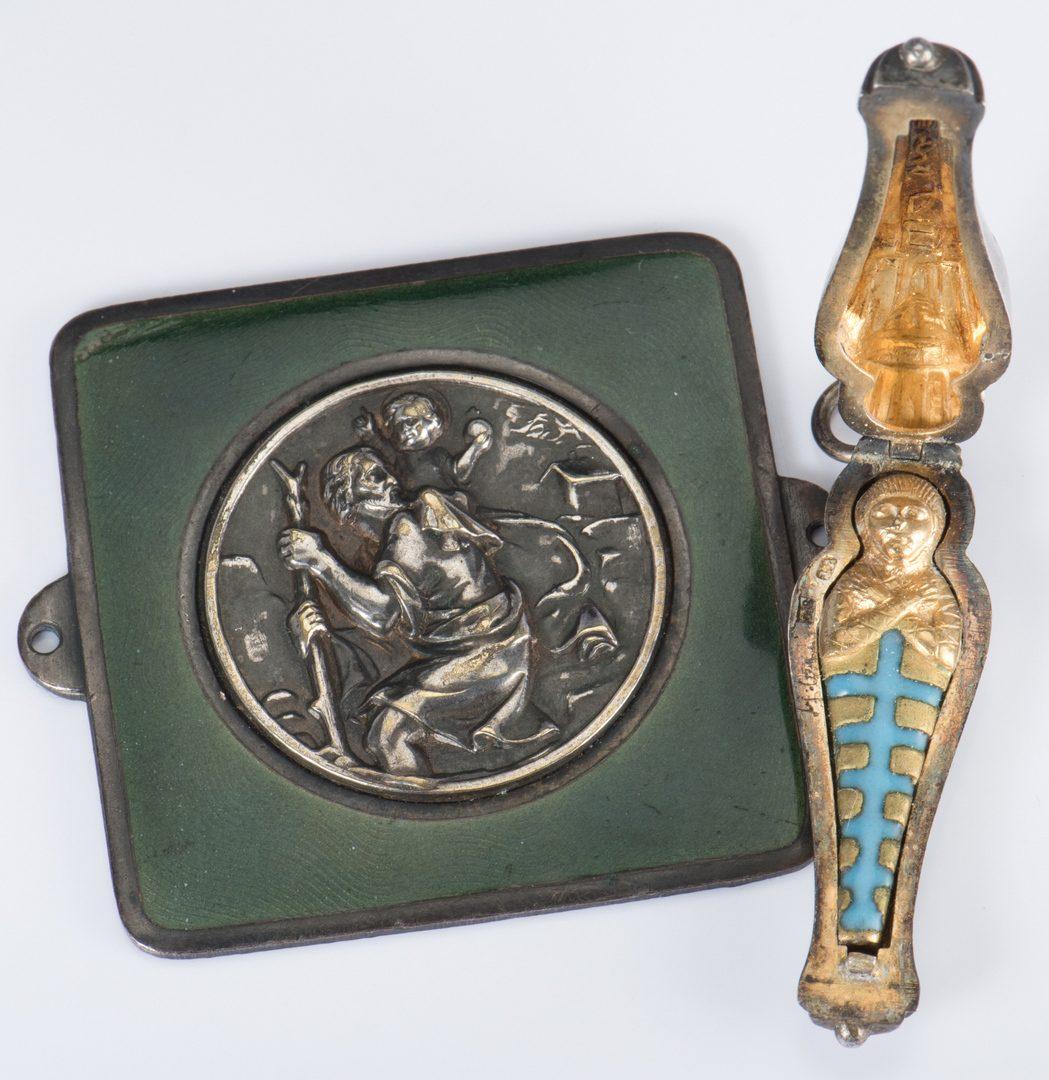 Lot 711: 4 Jewelry Items inc. enamel mummy