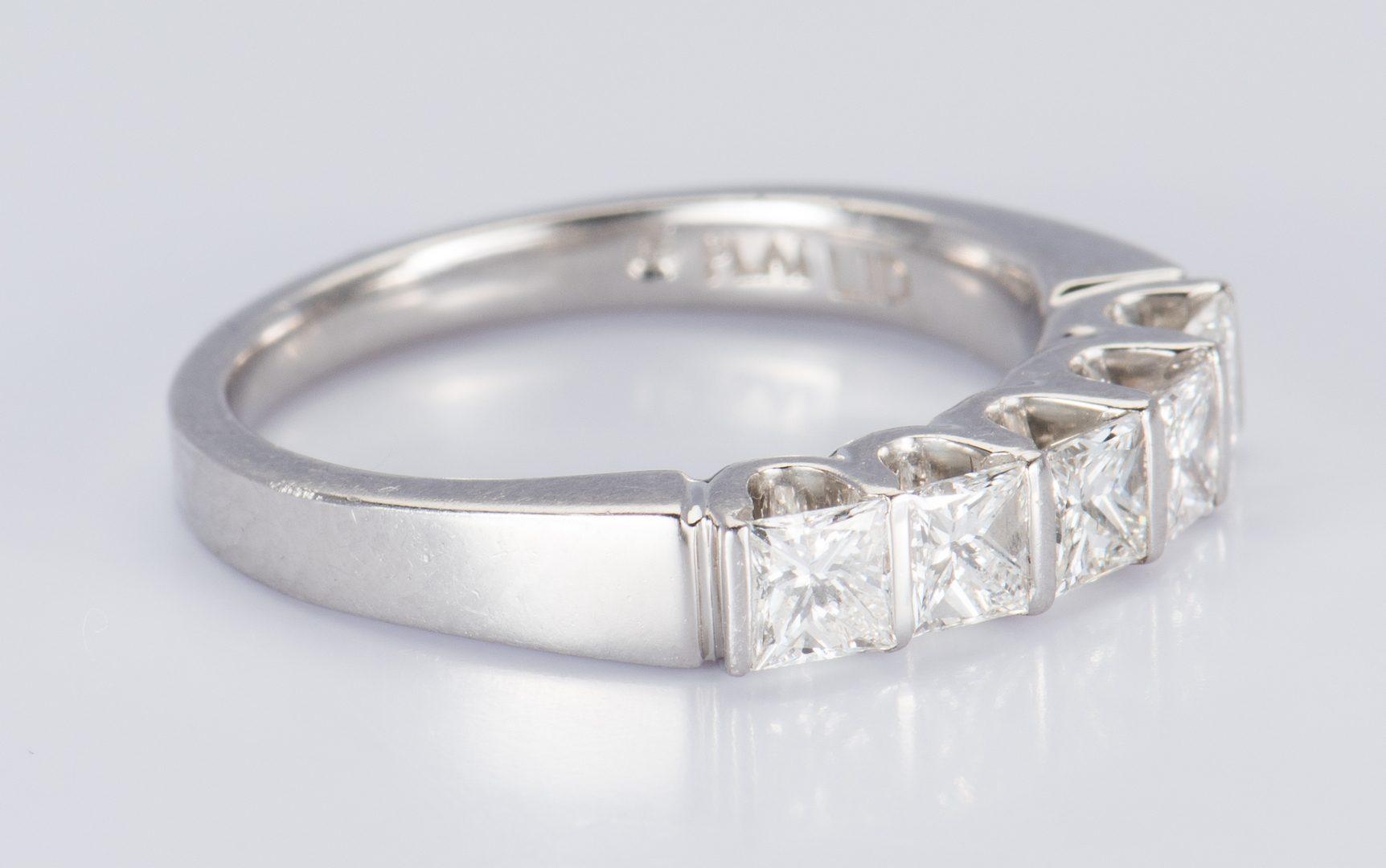 Lot 717: Platinum Princess cut Diamond Band