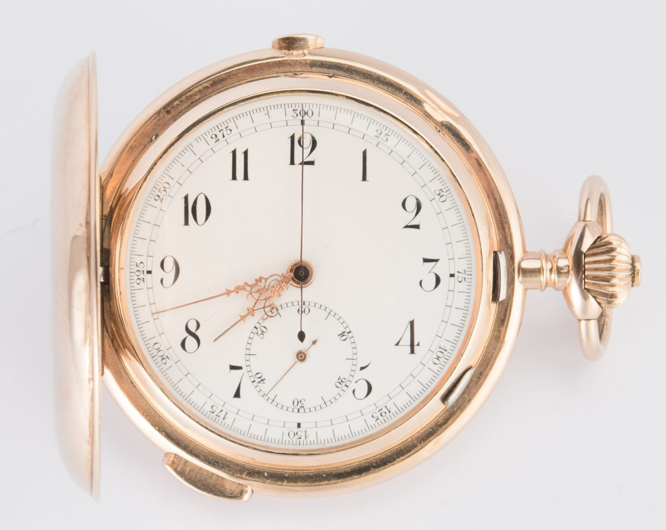 Lot 719: Swiss 14K Chronograph for Russian Mkt