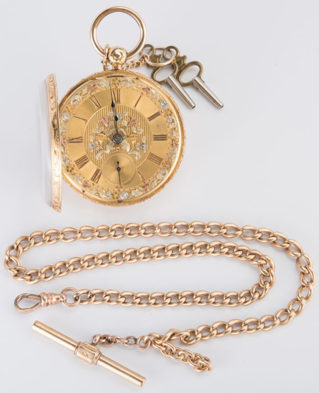 Lot 720: 18K Jos. Johnson Pocket Watch