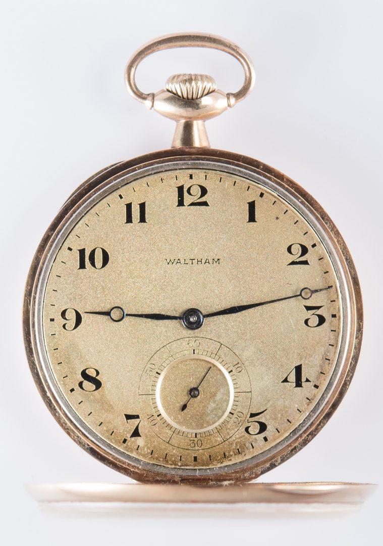 Lot 721: 14K Waltham Watch; 14K Chain