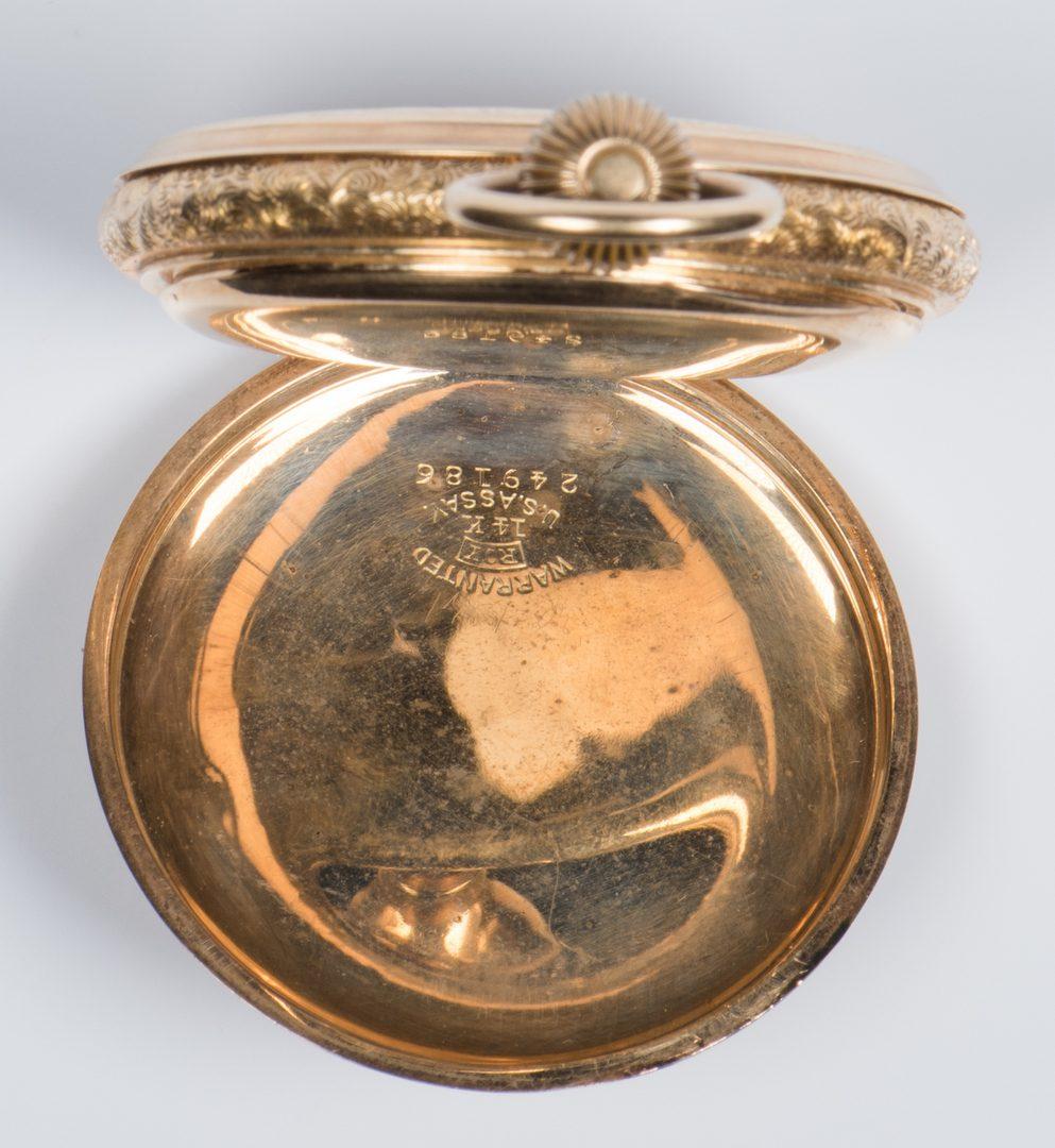 Lot 725: 14K Elgin Hunting Case Pocketwatch