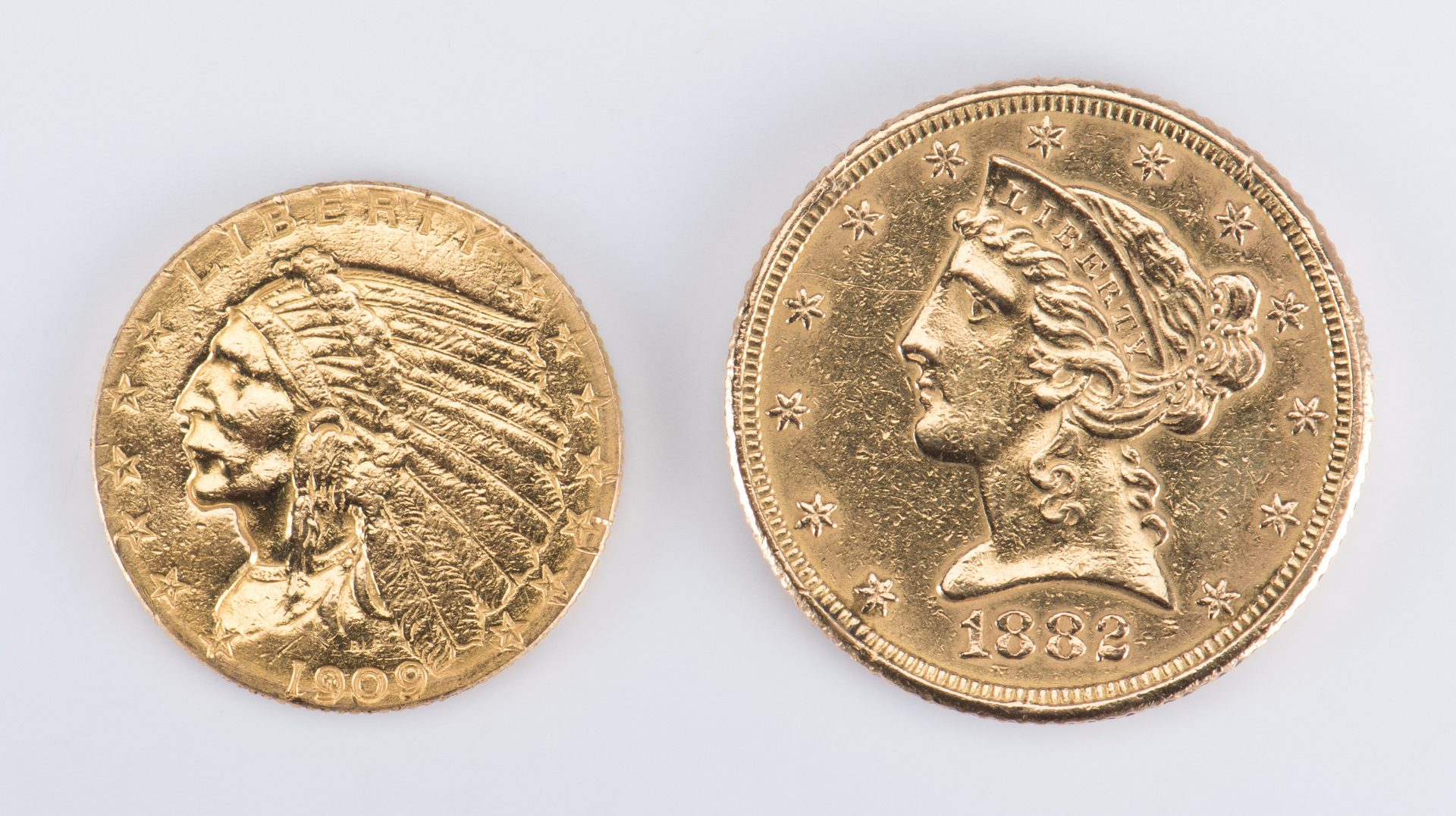 Lot 726: Two Vintage Gold Coins