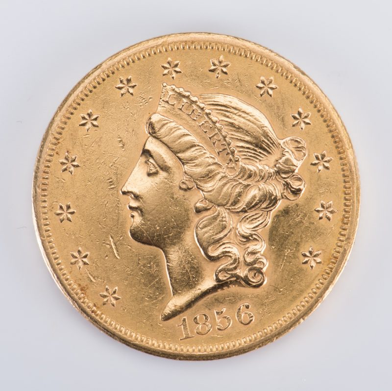Lot 727: 1856 Liberty $20 Gold Coin