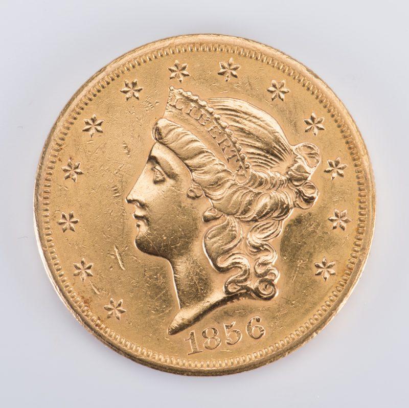 Lot 727: 1856 Liberty $20 Gold Coin
