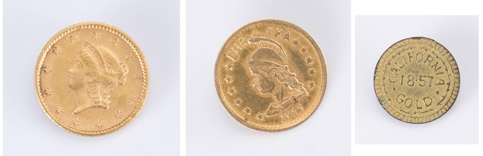 Lot 729: 3 Gold Rush Related Coins