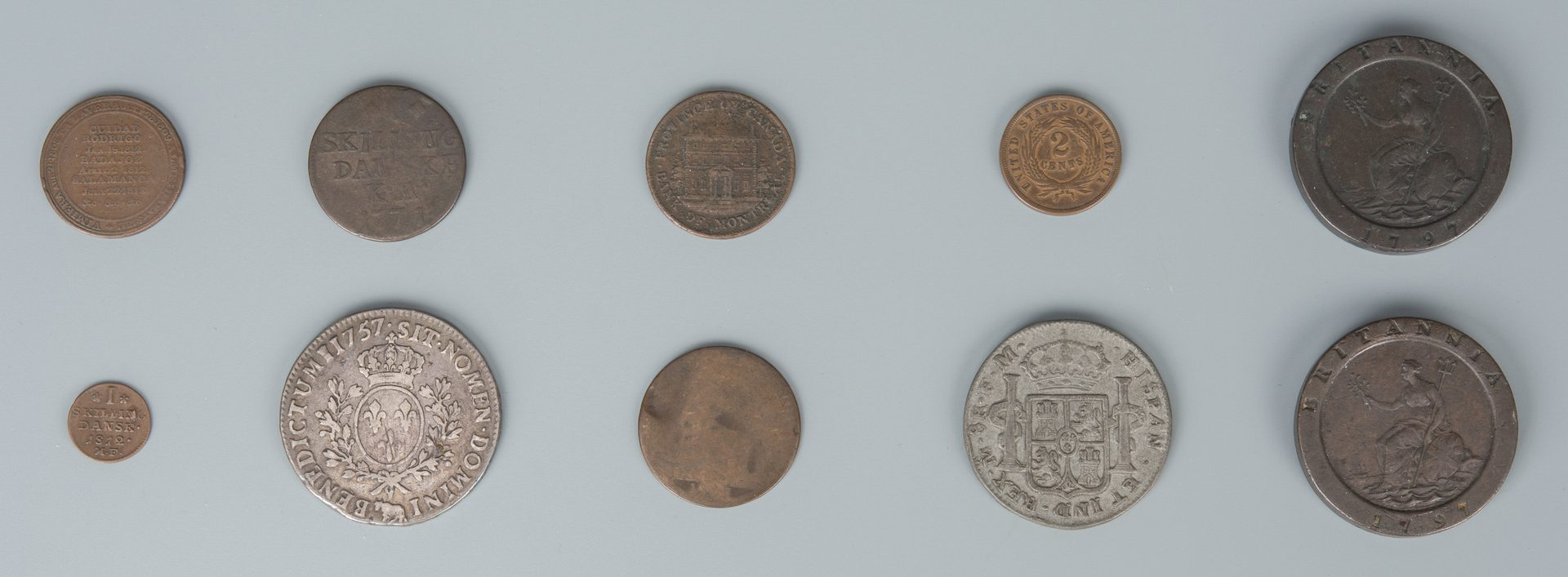 Lot 731: Grouping of American & International Coins, 19 total