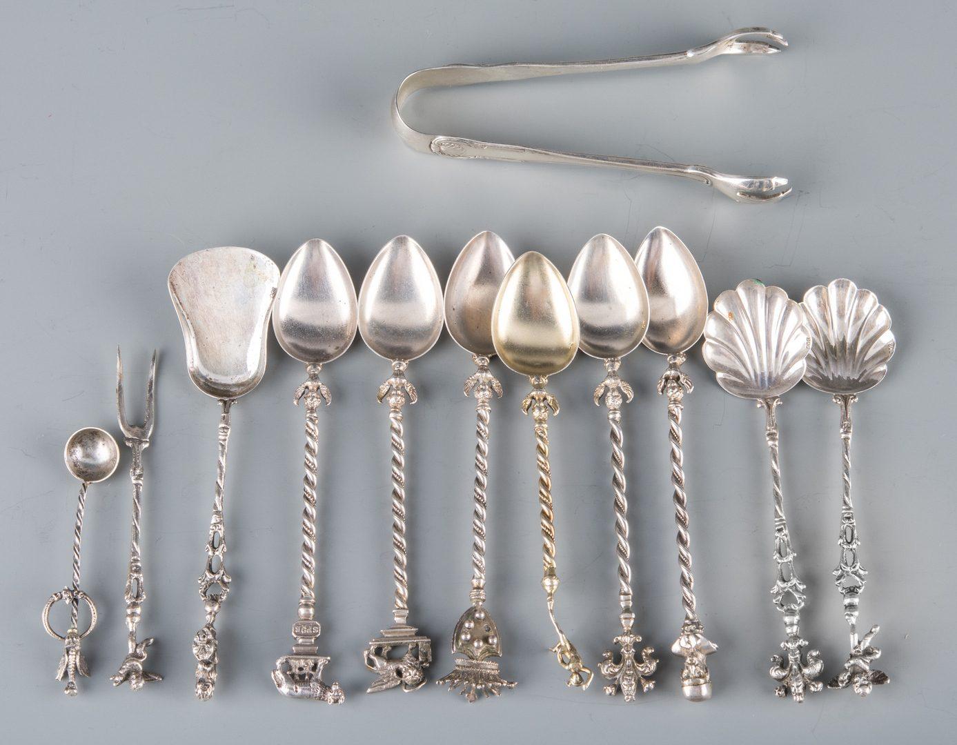 Lot 733: Assd. Silver Flatware inc. KY, Tiffany