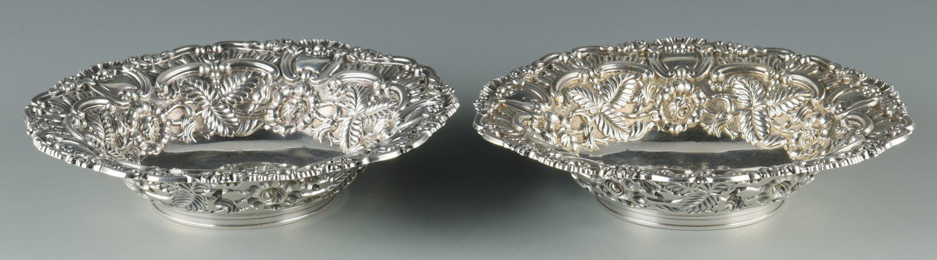 Lot 734: 2 Geo. IV Repousse silver bowls