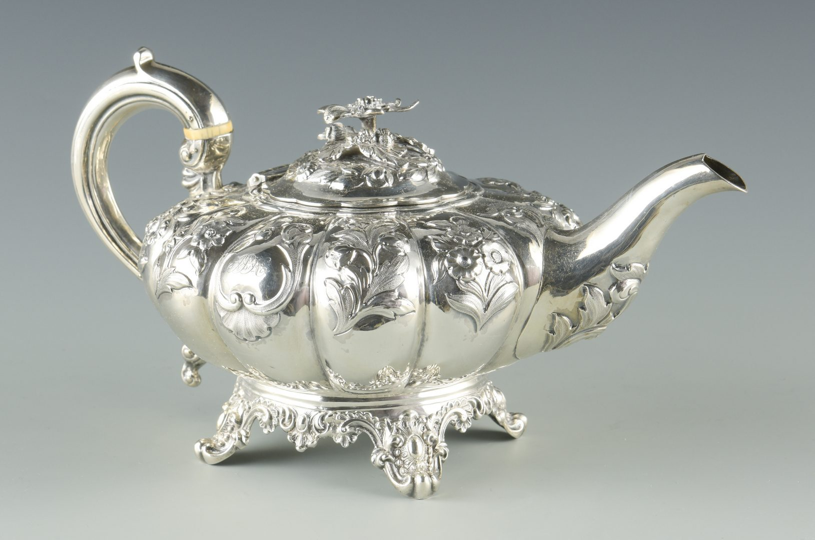 Lot 736: English Sterling Teapot, W. Chawner