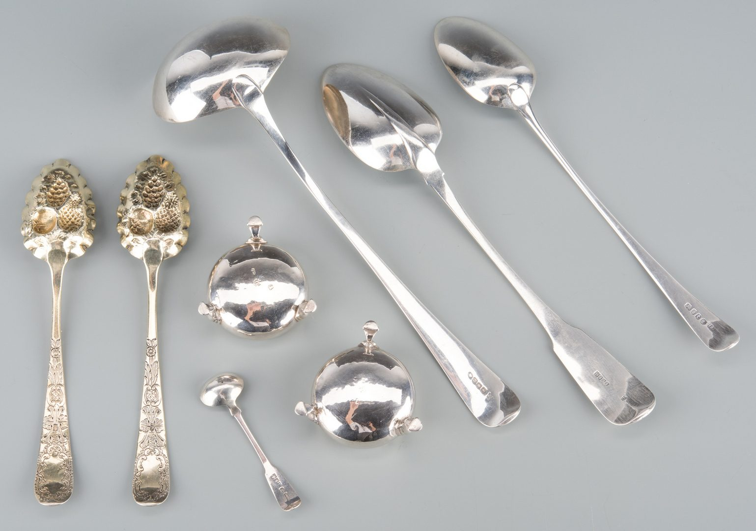 Lot 737: British flatware inc. Berry Spoons