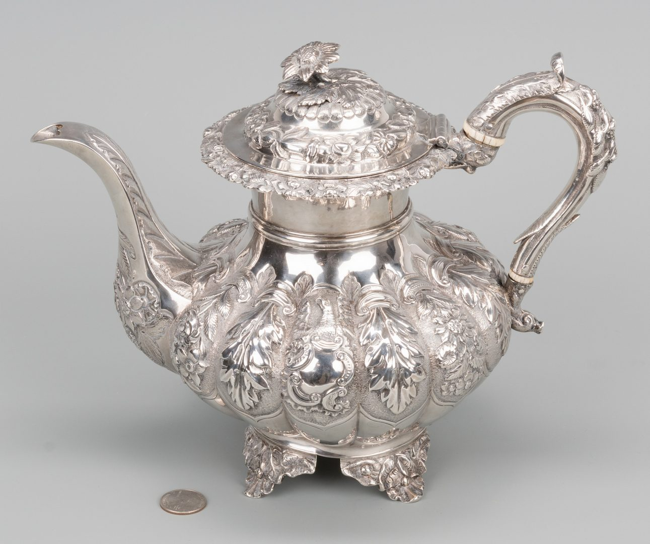 Lot 738: Sterling Teapot, William IV Irish marks