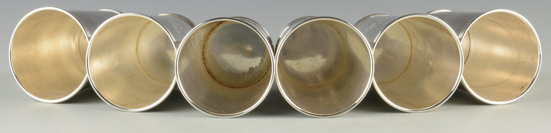 Lot 742: 6 Sterling Julep Cups, incl. Cartier