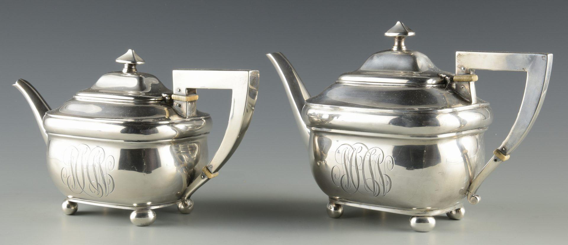 Lot 743: Unger Bros. Sterling Tea Set, 4 pcs.