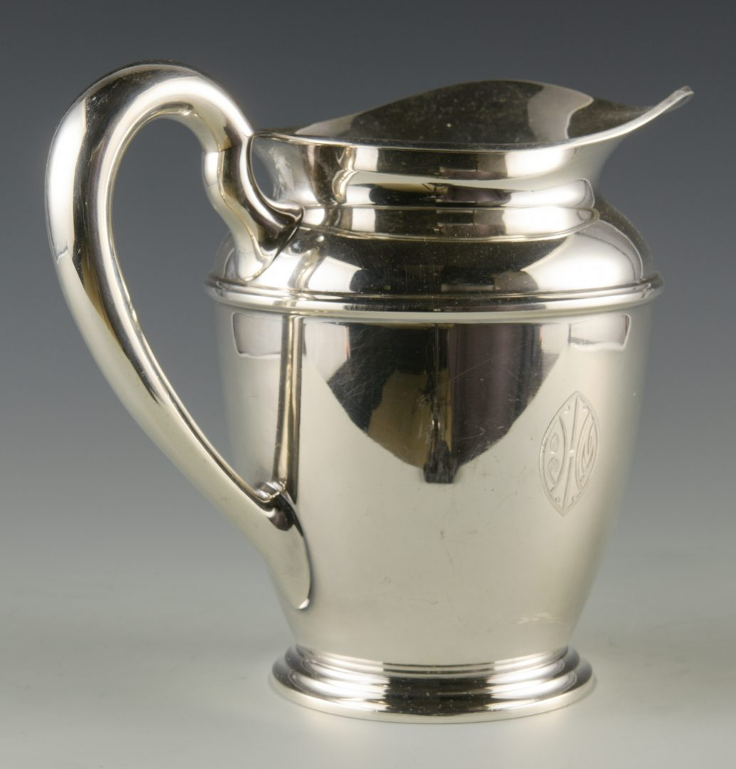 Lot 744: Kirk Sterling Water Pitcher