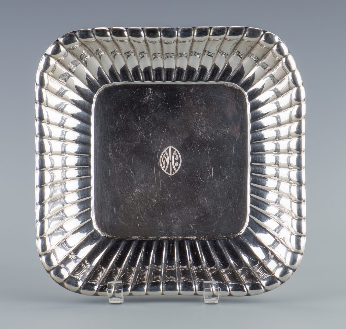 Lot 750: 2 Oval Sterling Dishes and 1 Square Dish