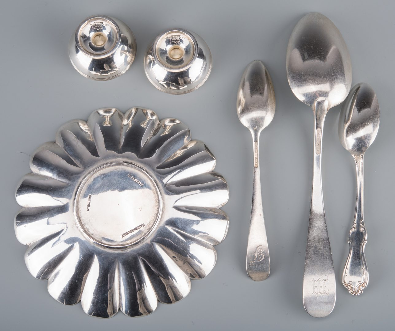 Lot 752: Misc Sterling Tableware inc. Modernist