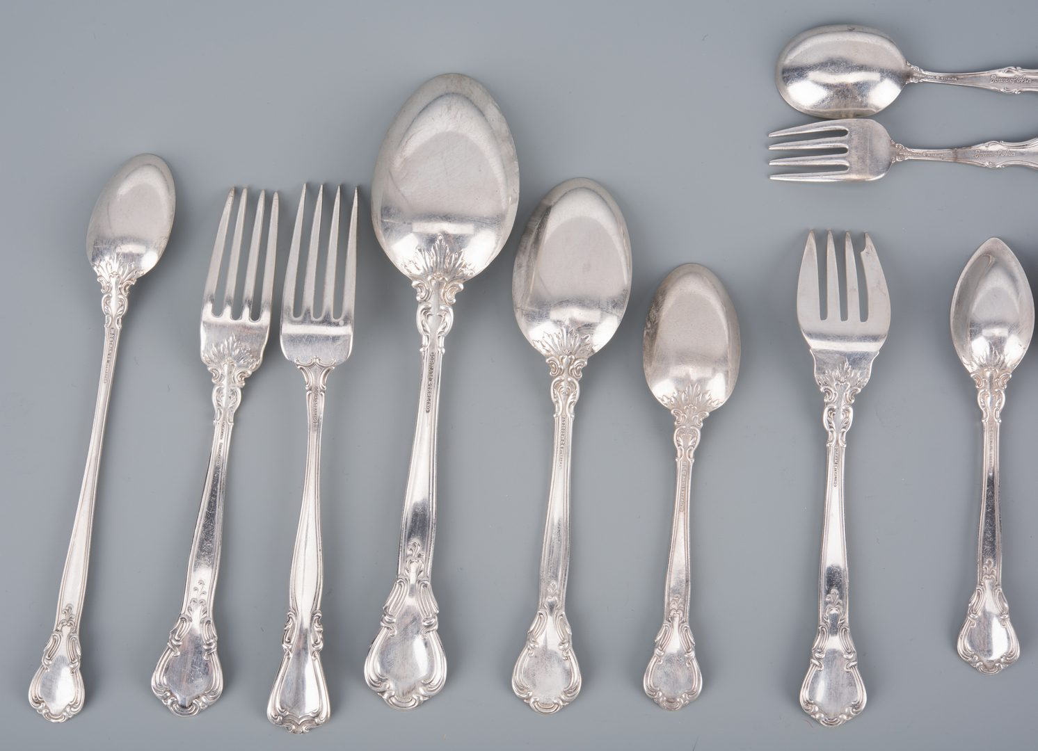 Lot 754: Gorham Chantilly Sterling Flatware & more