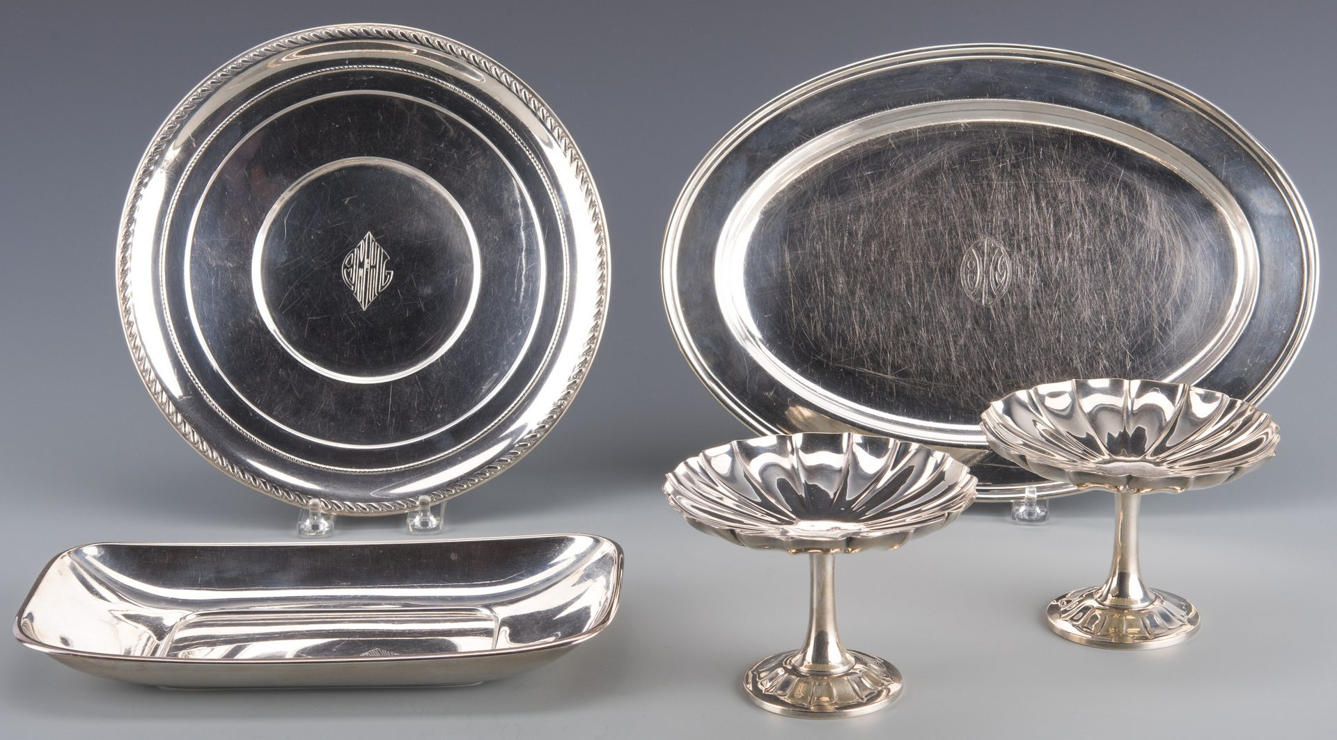 Lot 759: 5 pcs Sterling Hollowware