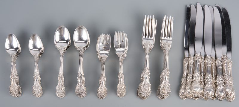 Lot 75: 60 pcs Francis I Sterling Flatware