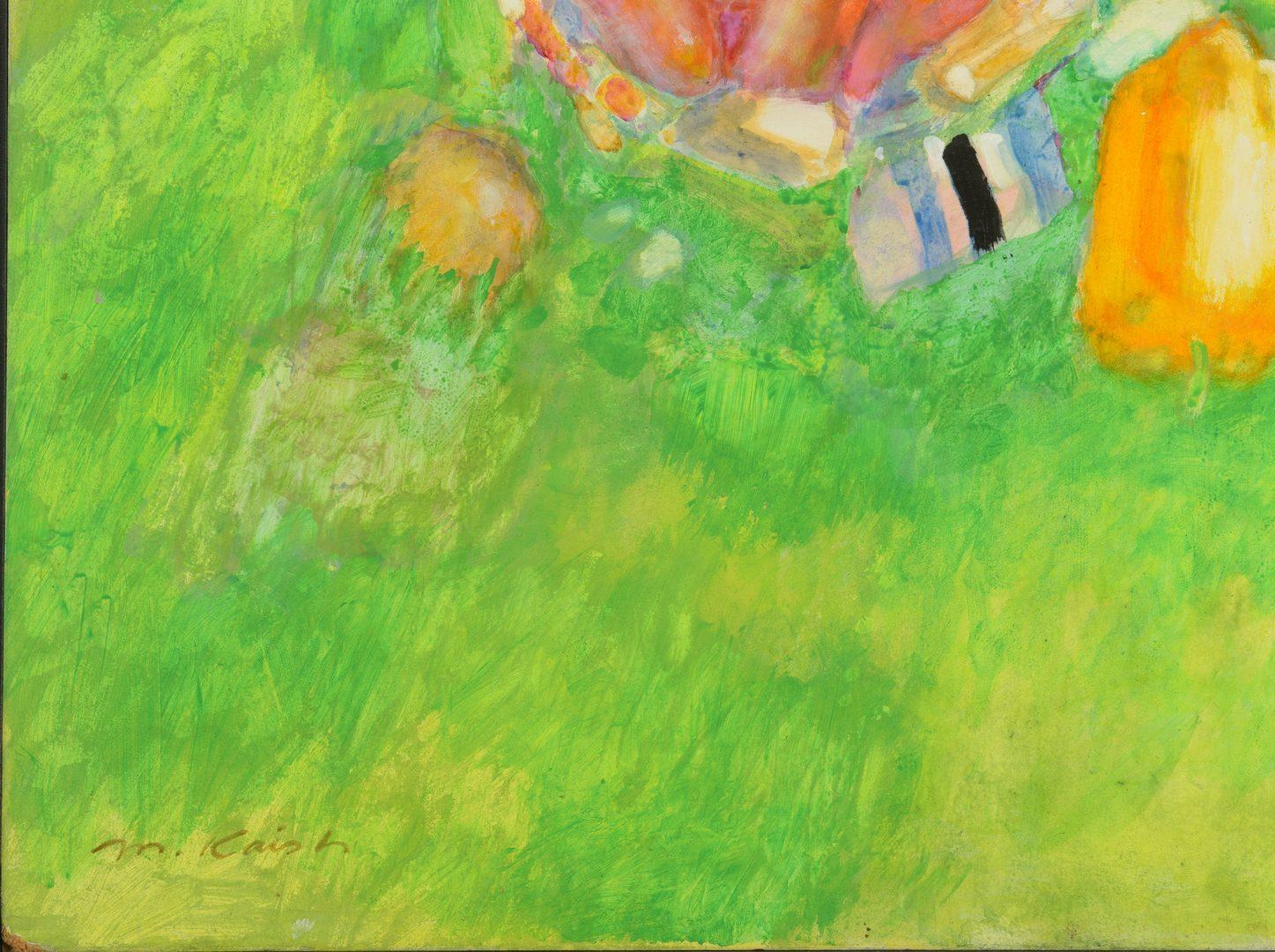Lot 764: Morton Kaish Gouache Abstract
