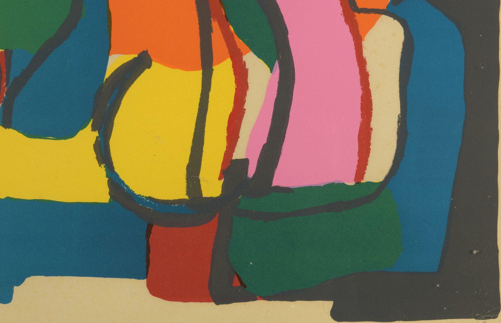 """Lot 765: Karel Appel Lithograph, """"Homme et Jeu-e"""""""