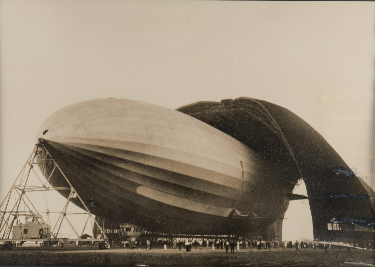 Lot 766: Margaret Bourke-White Zeppelin Photograph