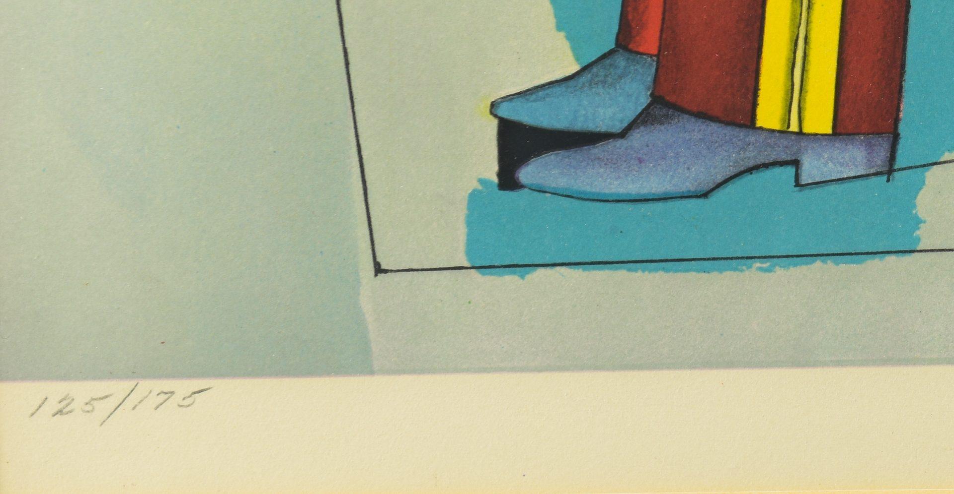 Lot 772: 2 Modern Lithographs, Villon and Lindner
