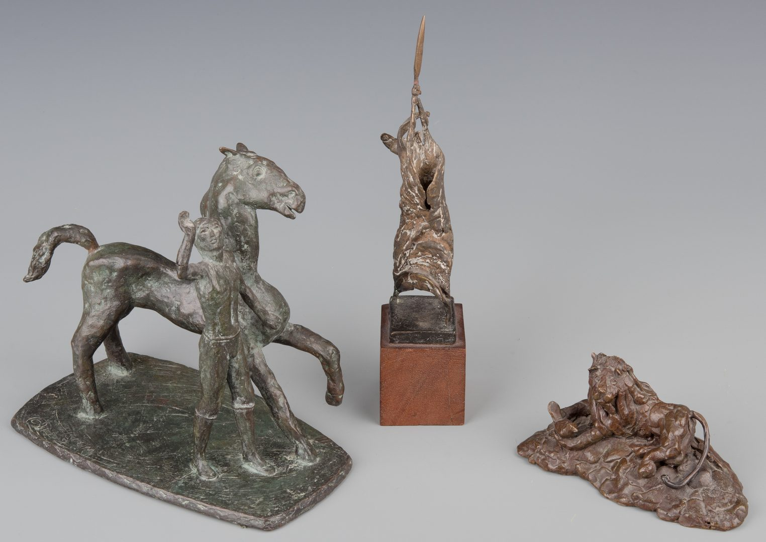 Lot 774: 3 TN Artists Bronze Sculptures, 20th c.
