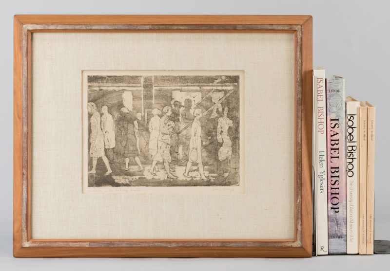 Lot 777: Isabel Bishop Etching & Books