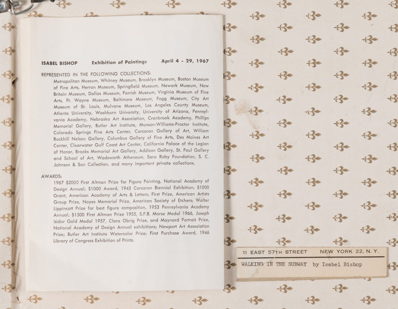 Lot 777: Isabel Bishop Etching & Books