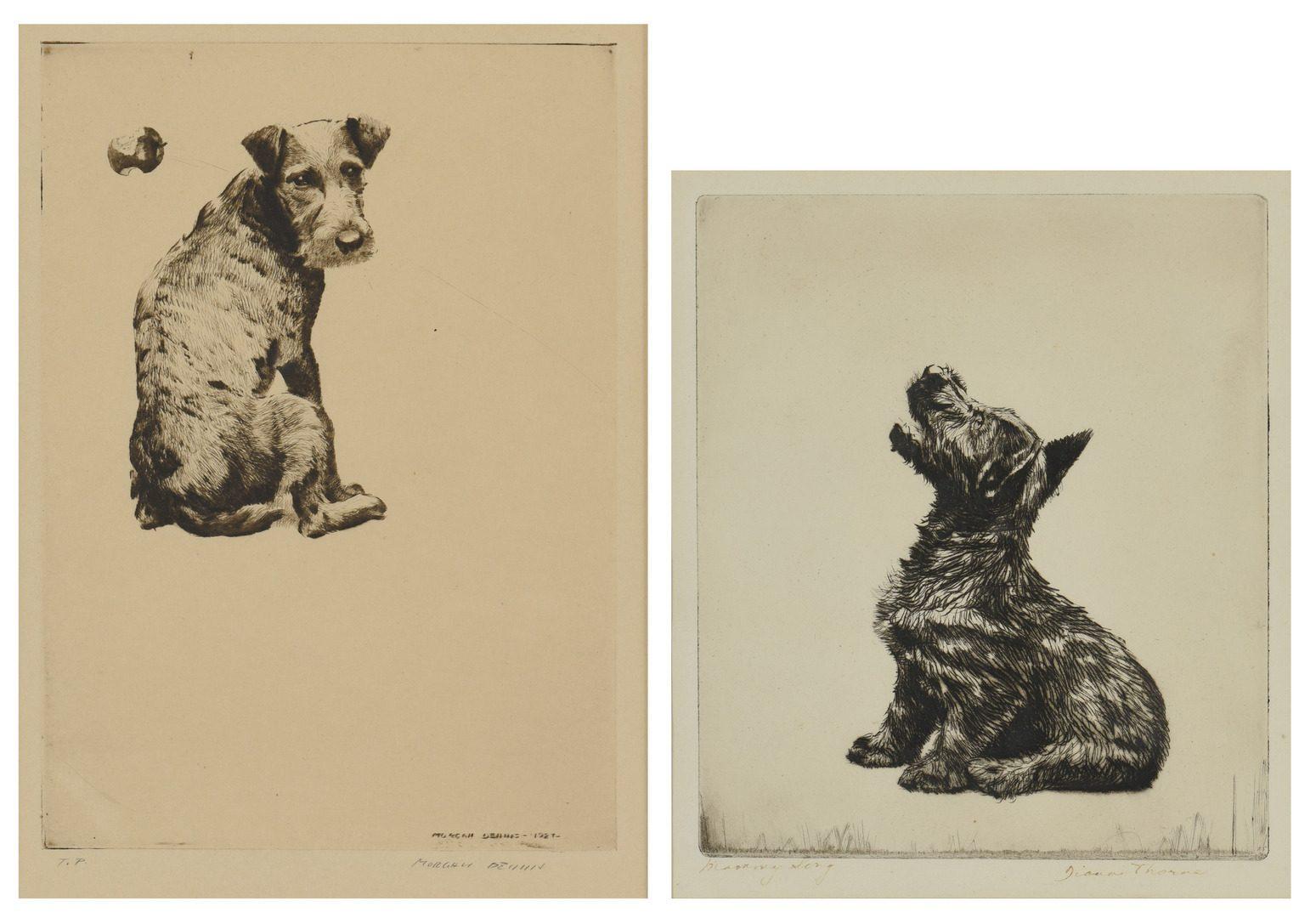 Lot 778: 2 Dog Prints, Dennis and Thorne