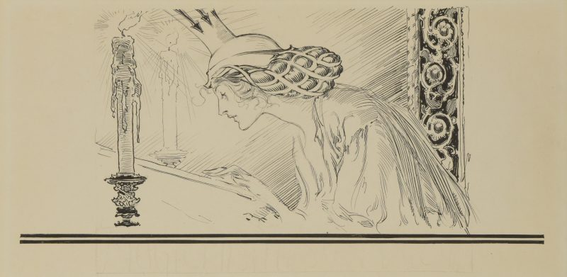 Lot 779: John Rea Neill Ink Illustration, Ozma of OZ