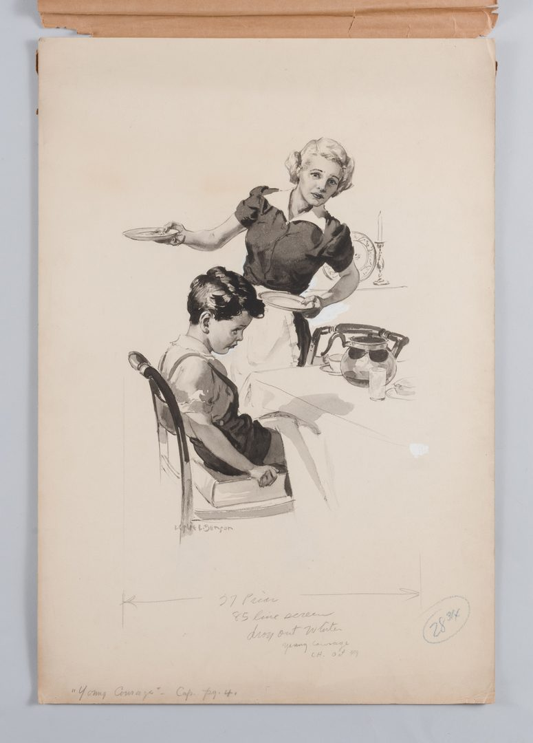 Lot 781: 2 Leslie Benson illustration paintings