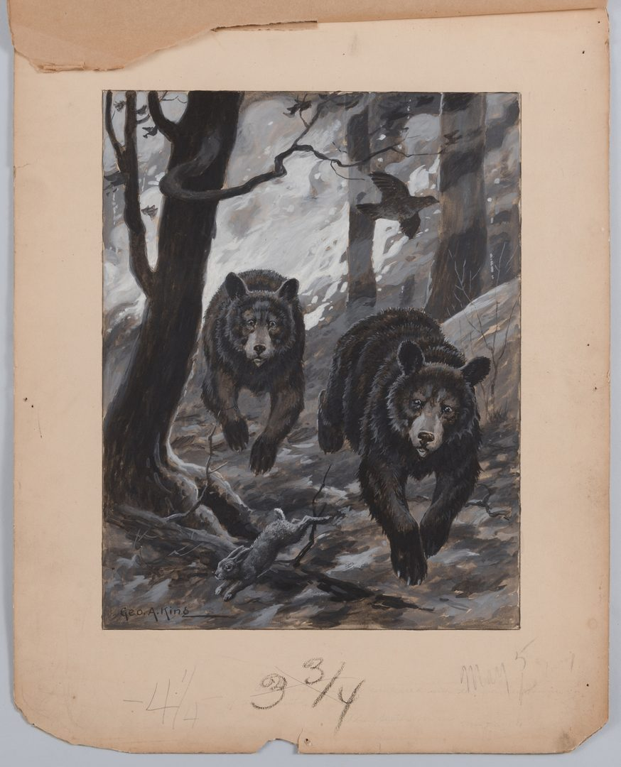 Lot 782: 3 Sporting Art Illustrations: Horsfall, Pitz, King