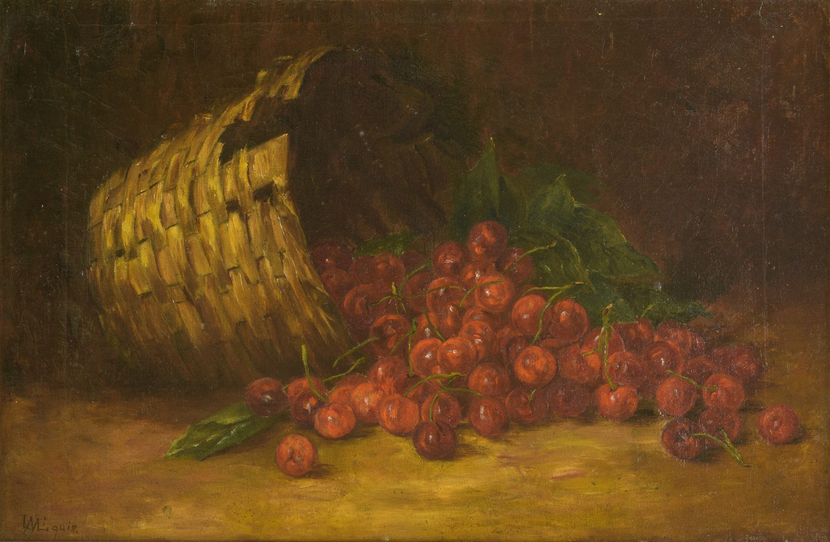 Lot 785: American School Oil on Canvas Fruit Still Life