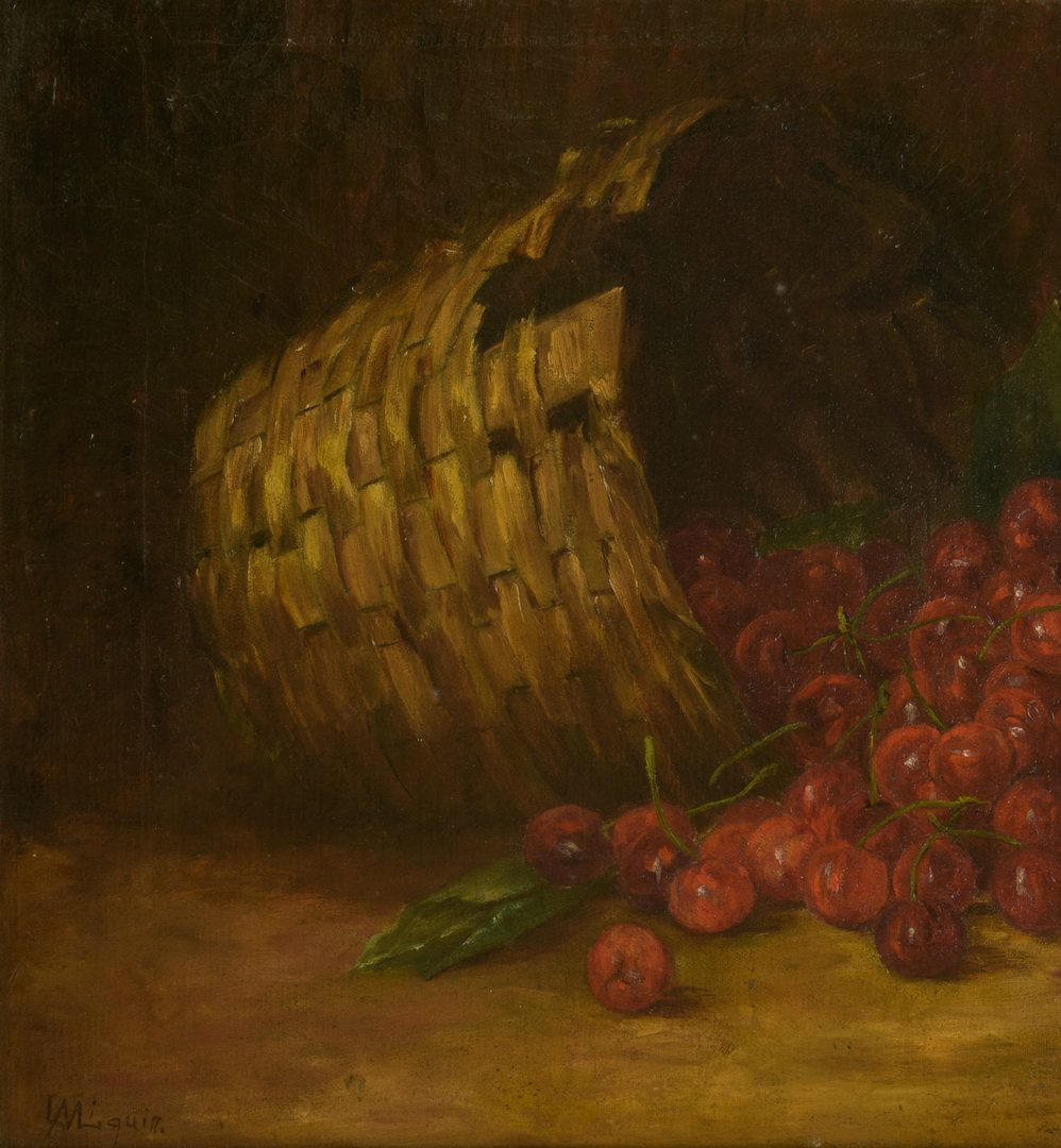 Lot 785: American School Oil on Canvas Fruit Still Life
