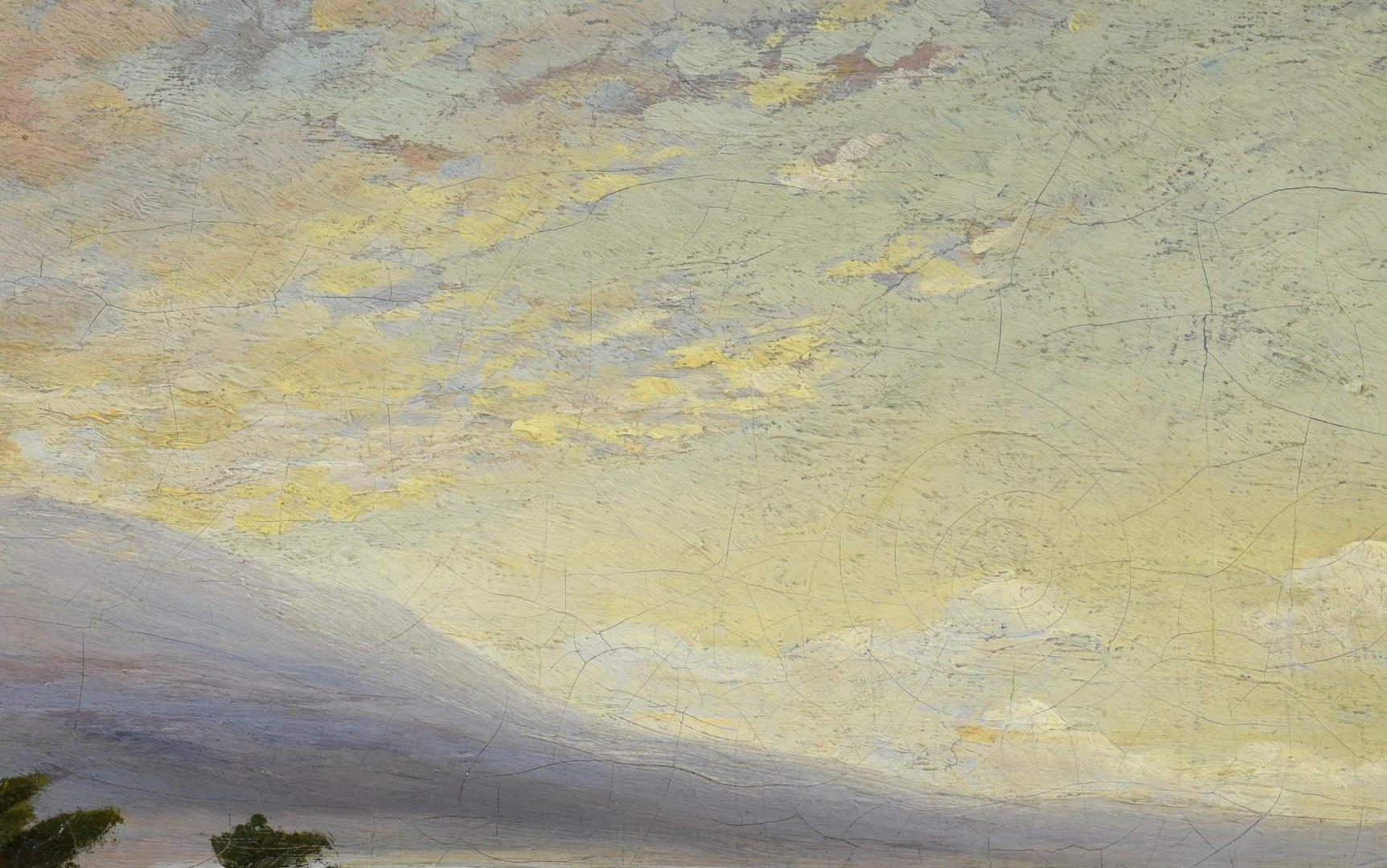 Lot 786: Arthur Vachell Oil on Canvas Landscape