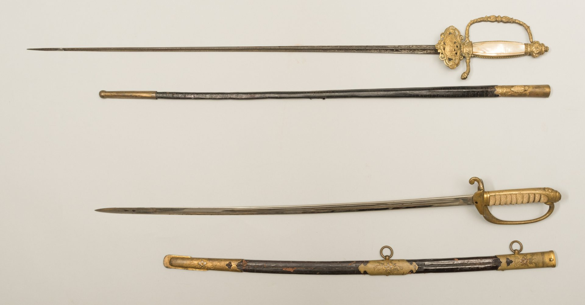 Lot 790: 2 Swords, incl. Japanese & French