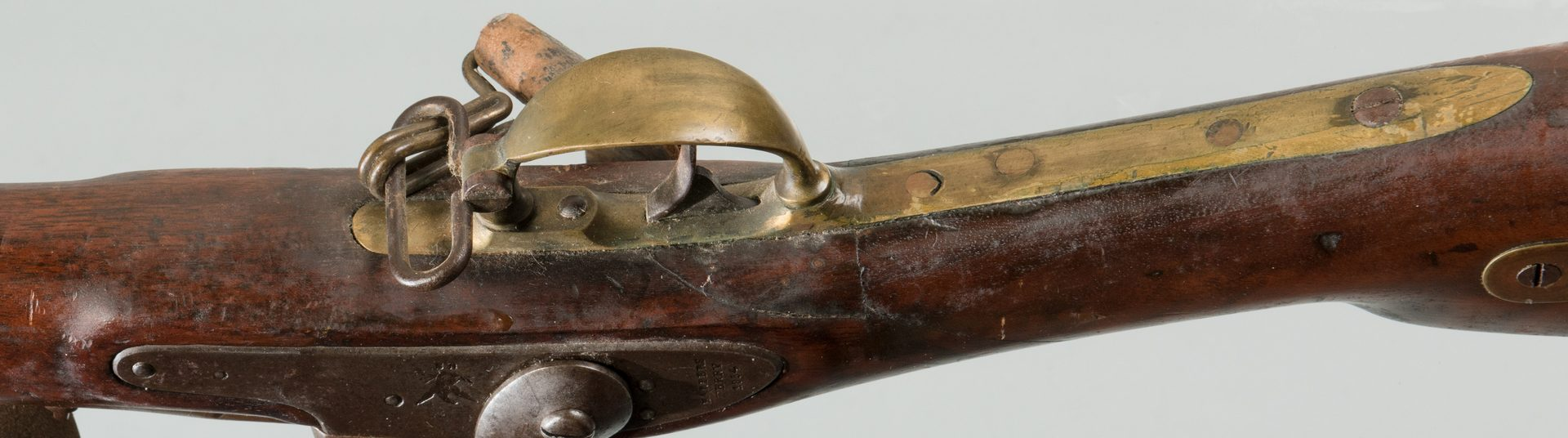Lot 830: Harpers Ferry Modified Rifle, 58 Cal.