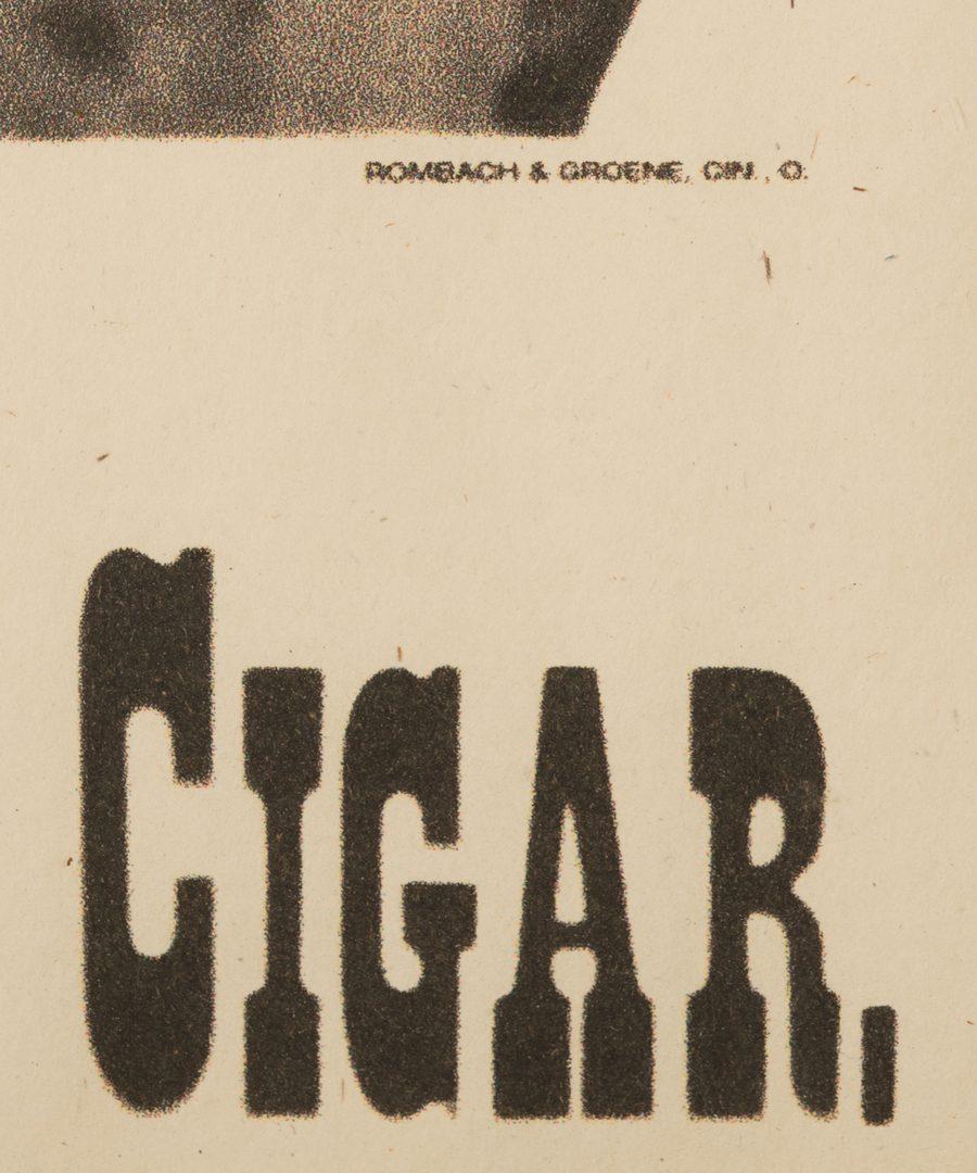 Lot 833: 2 Cigar, Whiskey Advertising Items plus Carnival Target