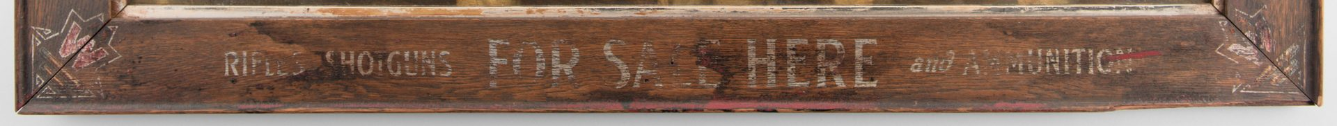 Lot 834: H. R. Poore Winchester Sign with Hunting Dogs