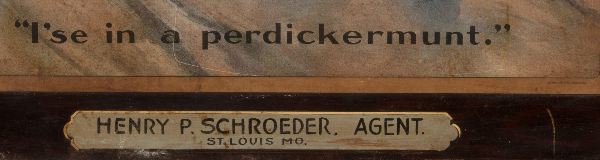 Lot 835: Schroeder's Whiskey Adv. Sign