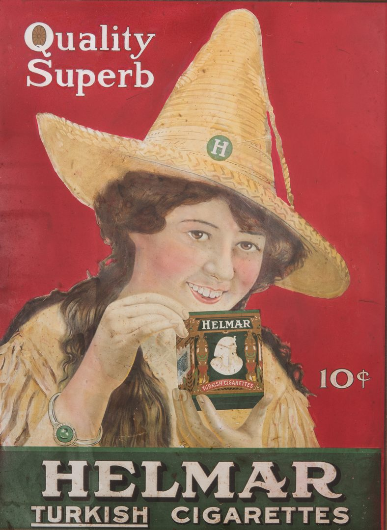 Lot 836: Helmar Turkish Cigarettes Advertising Sign