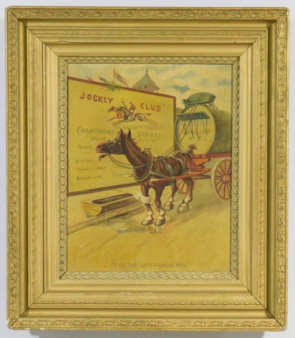 Lot 837: Temperance Movement Oil on Canvas