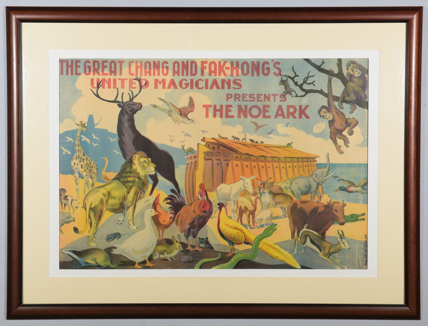 Lot 838: Great Chang & Fak Hong Noah's Ark Advertising Poster