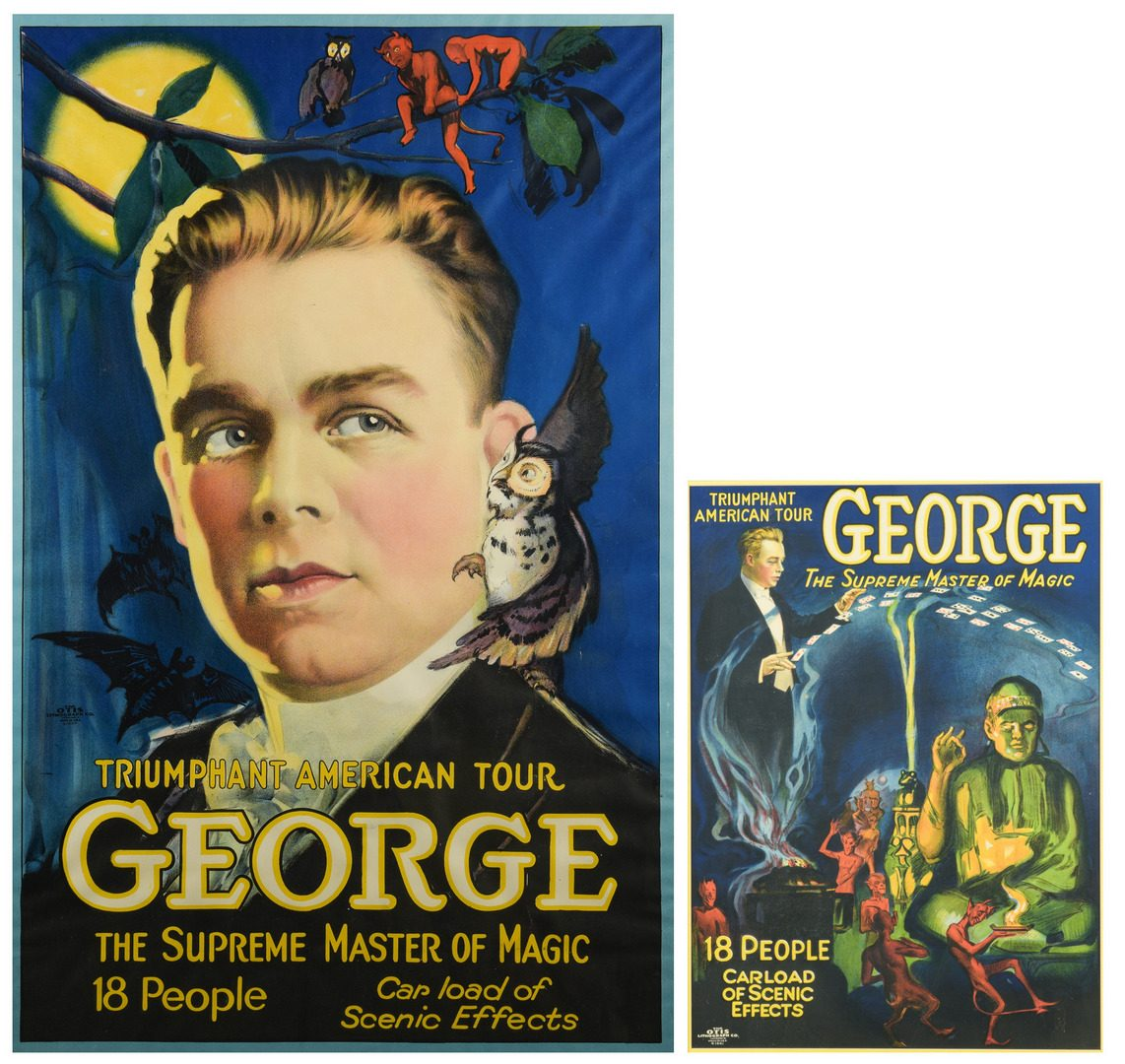 Lot 839: 2 Grover G. George Magic Posters