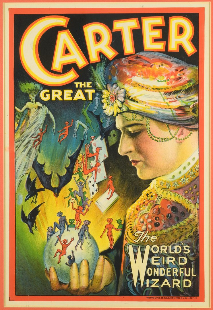 Lot 840: 2 Framed Magic Posters: Carter the Great